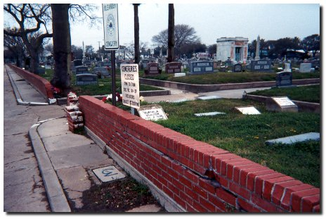 Oleander Cemetery Entrance, Galveston, Texas