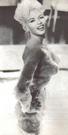 Jayne Mansfield with dark hair